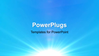 PowerPoint Template - An abstract Vector illustration of soft blue background with light streaks.